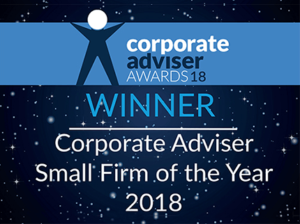 corporate advisor awards winner 2018